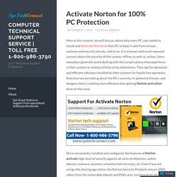 Activate Norton for 100% PC Protection