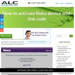 How to activate Roku device with link code