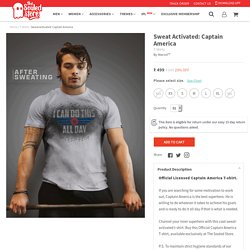 Buy Sweat Activated: Captain America T-Shirts online at The Souled Store.