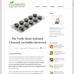 The Truth About Activated Charcoal: 159 Studies Reviewed