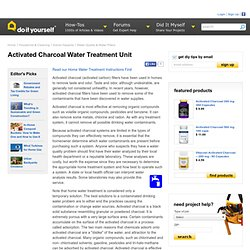 Activated Charcoal Water Treatment Unit