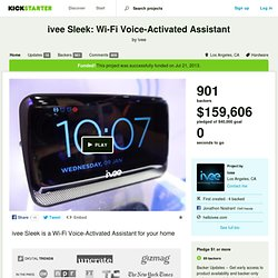 ivee Sleek: Wi-Fi Voice-Activated Assistant by ivee