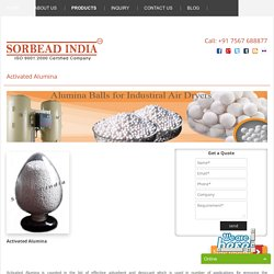 Supplier & Manufacturer of Activated Alumina Balls
