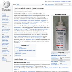 EN_WIKIPEDIA - Activated charcoal (medication).
