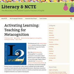 Activating Learning: Teaching for Metacognition