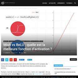 Mish vs ReLU : quelle est la meilleure fonction d'activation ? - Pensée Artificielle