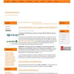 Activation de la Licence Artisteer 4 - logiciel de création de templates web
