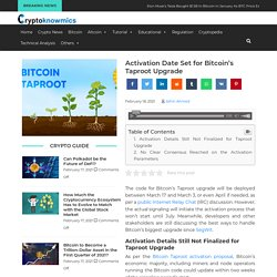 Activation Date Set for Bitcoin's Taproot Upgrade