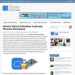 Unlock iCloud Activation Lock any iPhones Permanent