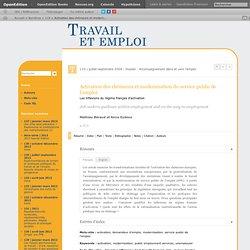 Activation des chômeurs et modernisation du service public de l'emploi