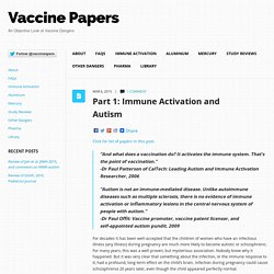 Immune Activation and Autism vaccinepapers.org