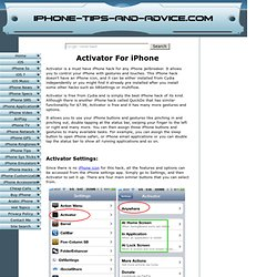 Activator is One of the Best Cydia iPhone Hacks