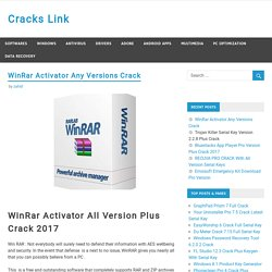 WinRar Activator Any Version With Final Crack Plus Beta [windows + Mac]