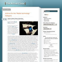 The Active Class » Mobile technology