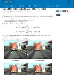 Active Contour Code