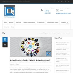 Active Directory Basics: What is Active Directory?