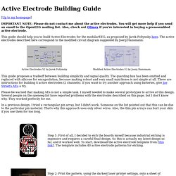 Active Electrode Building Guide