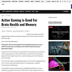 Active Gaming is Good For Brain Health and Memory - Neuroscience News