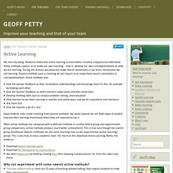 Active Learning - Geoff PettyGeoff Petty