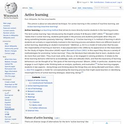 Active learning - Wikipedia