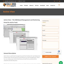 Active View – The WEB Based Management and Monitoring Portal for Active Track