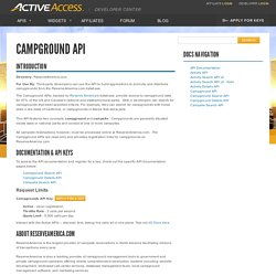 ACTIVE Network API - Campground API