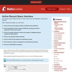 Active Record Query Interface