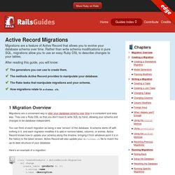 Active Record Migrations