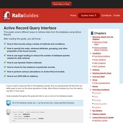 Active Record Query Interface