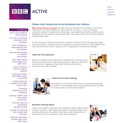 BBC Active > BBC Active Ideas and Resources > Introduction