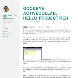Goodbye activeCollab, hello ProjectPier: project management appl