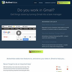 GTDInbox for Gmail - Easy email management, organization and workflow based on GTD
