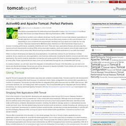 ActiveMQ and Tomcat: Perfect Partners