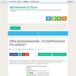 ActivePresenter Pro gratuit !