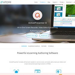 ActivePresenter - Record screen, create interactive screencasts, software demo, software simulations, author rapid elearning materials with quizzes, create SCORM-compliant courses - Advanced Screencast & Rapid eLearning Authoring Tool