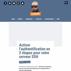 Activer l'authentification en 2 étapes pour votre serveur SSH