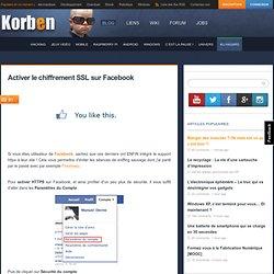 Activer le chiffrement SSL sur Facebook