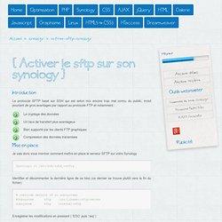 Activer le SFTP sur son Synology - Astuces-webmaster.ch