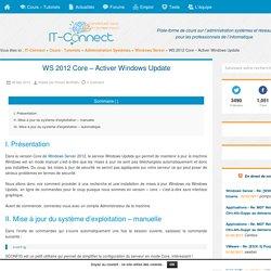 WS 2012 Core – Activer Windows Update