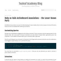 Ruby on Rails ActiveRecord Associations - The Lesser Known Parts