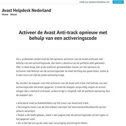 Activeer de Avast Anti-track opnieuw met behulp van een activeringscode – Avast Helpdesk Nederland