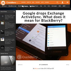 Google drops Exchange ActiveSync. What does it mean for BlackBerry?