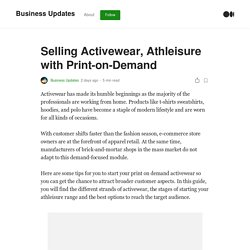 Selling Activewear, Athleisure with Print-on-Demand
