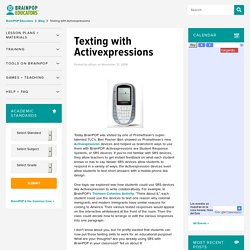 Texting with Activexpressions