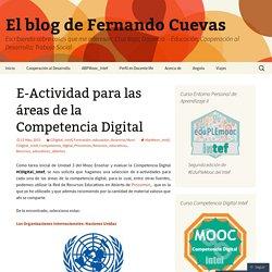 E-Actividad para las áreas de la Competencia Digital