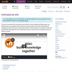 Actividad de wiki