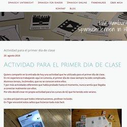 Actividad para el primer día de clase - Spanisch lernen in Hamburg