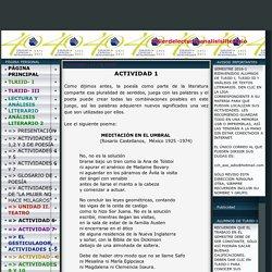 tallerdelecturayanalisisliterario - ACTIVIDADES 1,2 Y 3 DE POESÍA