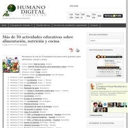 Más de 70 actividades educativas sobre alimentación, nutrición y cocina