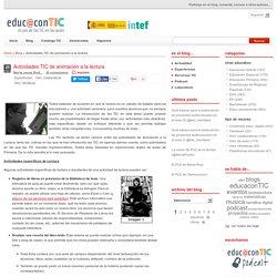 Actividades TIC de animación a la lectura